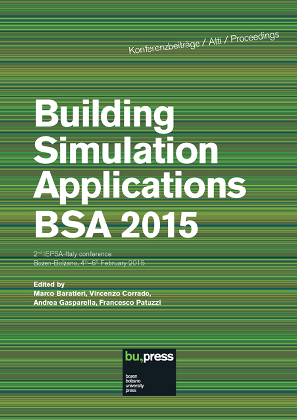 Building Simulation Applications BSA 2015