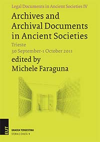 Archives and Archival Documents in Ancient Societies